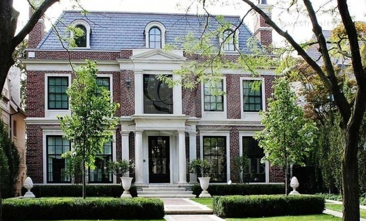 Дом в английском стиле фасад фото