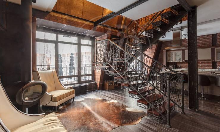 Двухуровневый апартамент савторским дизайн-ремонтом