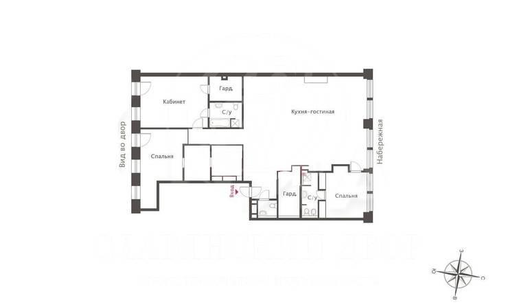 Элегантная квартира скамином в«Арт Хаус»